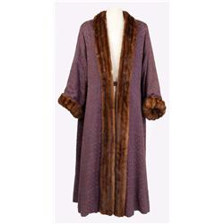 "Roger Moore ""Prince Henri"" purple silk robe with mink trim from Diane"