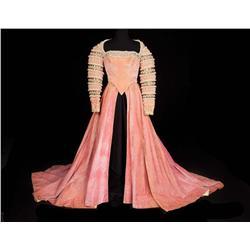 """Marisa Pavan """"Catherine de Medici"""" rose velvet period court gown by Walter Plunkett from Diane"""