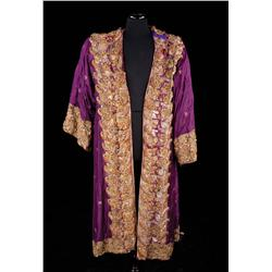 "Yul Brynner ""King Mongkut"" royal purple robe by Irene Sharaff and whip from The King and I"
