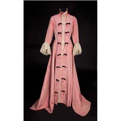 "Isabel Jeans ""Aunt Alicia"" rose raw silk gown with lace inserts from Gigi"