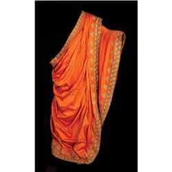 "George Relph ""Caesar"" monumental tangerine silk and gold-lamé lined cape from Ben-Hur"