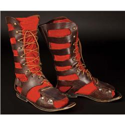 Charlton Heston lace-up high sandal boots from Ben-Hur
