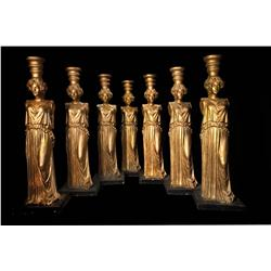 Seven gold Caryatids used at the Academy Awards