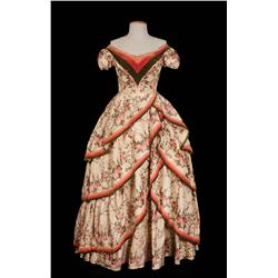 "Debbie Reynolds ""Lilith Prescott"" silk floral gown from How the West Was Won"