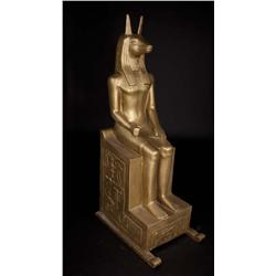 "Monumental gold-painted ""Anubis"" figure from Cleopatra"