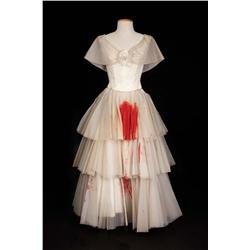 Bette Davis Ivory chiffon dress with simulated blood stains from Hush…Hush, Sweet Charlotte