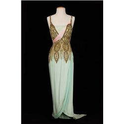Debbie Reynolds pale green elaborately beaded silk gown from The Unsinkable Molly Brown