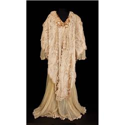 Martita Hunt elaborate chiffon and embroidered floral dressing gown from The Unsinkable Molly Brown