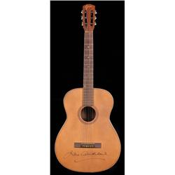 """Julie Andrews """"Maria"""" acoustic guitar, autographed by Andrews, from The Sound of Music"""