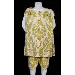 """Pair of Trapp family children's """"drapery"""" costumes from The Sound of Music"""