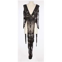 "Kay Medford ""Rose Brice"" black beaded shawl from Funny Girl"