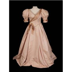 """Joyce Ames """"Ermengarde Vandergelder"""" pale pink gown and shoes from Hello, Dolly!"""