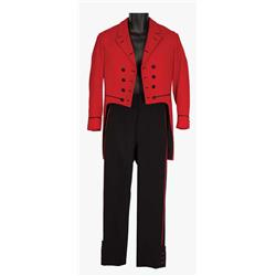 """Jim Hutchinson """"Stanley"""" red and black waiter outfit from Hello, Dolly!"""