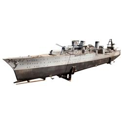 Battleship/Destroyer large-scale filming miniature from The Winds of War & other Paramount war films