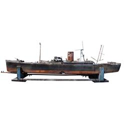 merchant/cargo ship large-scale filming miniature from The Winds of War & other Paramount war films
