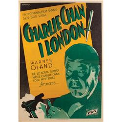 Charlie Chan in London original Swedish one-sheet poster