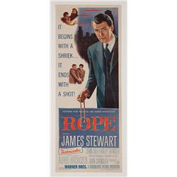 "Rope original 14"" x 36"" insert poster for Alfred Hitchcock film"