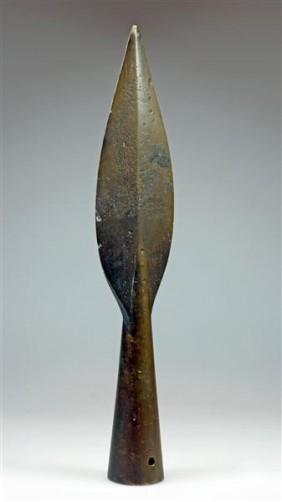 122: A Celtic Iron Spearhead Leaf-Shaped