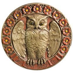 Owl Drug Store Plaster Emblem Wall Hanging