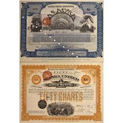 AK - 1895, 1931 - Alaska Gold Mining Stock Certificates - Fenske Collection
