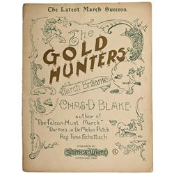 AK - 1897 - The Gold Hunters Sheet Music