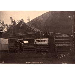 AK - White Pass Trail,c1900 - Alaska Laundry Cabin Photo - Mueller Collection