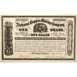 AL - Talladega,1855 - Alabama Copper Stock Certificate