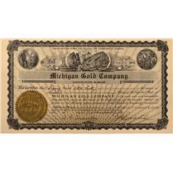 AZ - 1904 - Michigan Gold Company Stock Certificate *Territorial* - Fenske Collection