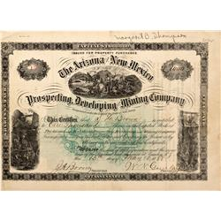 AZ - 1881 - Nevada and New Mexico Prospecting, Developing and Mining Company Stock *Territorial* - F