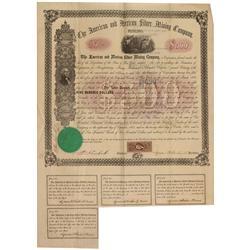 AZ - Arivaca,Pima County - September 19, 1863 - American and Mexican Silver Mining Company, Bond