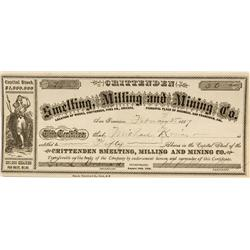 AZ - Crittenden,Pima County - February 3, 1887 - Crittenden Smelting, Milling and Mining Company Sto