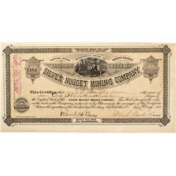 AZ - Globe Mining District,Maricopa County - August 10, 1881 - Silver Nugget Mining Company Stock Ce