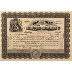 AZ - Jerome,Yavapai County - 1905 - Black Hills Copper Company Limited Stock Certificate - Fenske Co