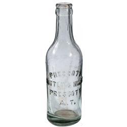 AZ - Prescott,c1908 - Prescott Bottling Works Bottle *Territorial*