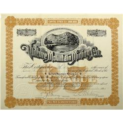 AZ - Vulture,Maricopa County - December 23, 1895 - Vulture Mountain Mining Co. Stock Certificate *Te