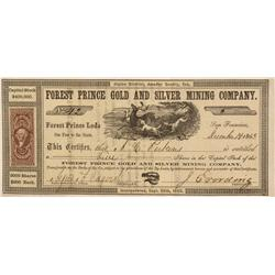 CA - Amador County,December 14, 1863 - Forest Prince Gold and Silver Stock Forest Prince Gold and Si