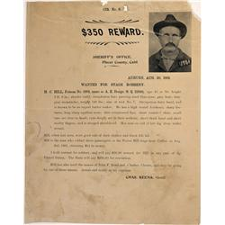 CA - Auburn,Placer County - August 20, 1901 - Stage Robbery Reward Poster - Mueller Collection