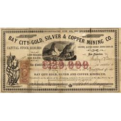 CA - Bay City,Contra Costa County - July 17, 1863 - Bay City Gold, Silver & Copper Mining Company, S