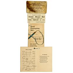 """CA - Bodie,Mono County - 1903-1910 - Bodie """"Ball"""" Mementoes"""