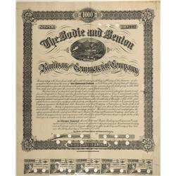 CA - Bodie,Mono County - 1886 - Bodie & Benton Railway and Commercial Company Bond