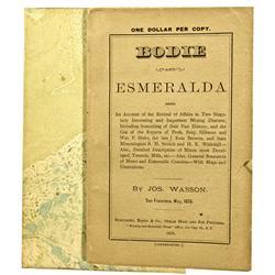 CA - Bodie,Mono County - 1878 - Bodie & Esmeralda Mining District Revival Booklet