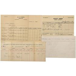 CA - Bodie,Mono County - 1879 - 1941 - Bodie & Inyo Assay Receipts