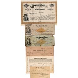 CA - Bodie,Mono County - 1878-1882 - Bodie Bank Checks