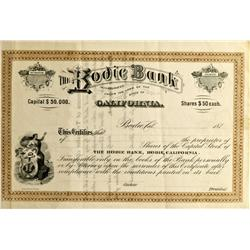 CA - Bodie,Mono County - c187_ - Bodie Bank Stock Certificate