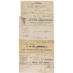 CA - Bodie,Mono County - 1880-1886 - Bodie Billheads, General Merchandise