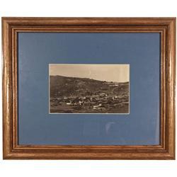 CA - Bodie,Mono County - c1890 - Bodie Birdseye View Photograph, Framed