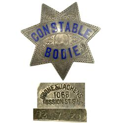 CA - Bodie,Mono County - c1926 - Bodie Constable Badge