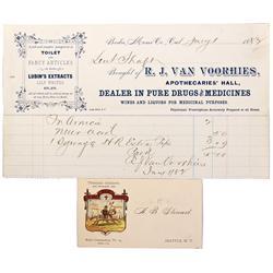 CA - Bodie,Mono County - Bodie Druggist Documents