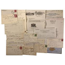 CA - Bodie,Mono County - 1896-1930 - Bodie Grab Bag of Covers, Checks, Receipts – Boca Brewing Co.,