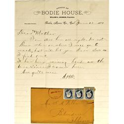 CA - Bodie,Mono County - 1879 - Bodie House Letterhead